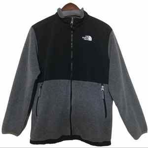 The North Face Women's Fleece Gray & Black Zippered Jacket Size Large
